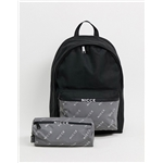 Asos Nicce backpack with reflective pocket and pencilcase