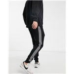 Asos River Island dogtooth check sweatpants in black
