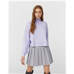 Asos Stradivarius high neck cropped sweater in lilac