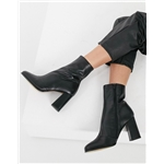 Asos Whistles leather heeled boots in black