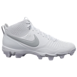 Nike Alpha Huarache 3 Varsity Mid Keystone - Mens / White/Light Smoke Grey/White
