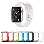 Tranesca 8 Pack 38mm Apple Watch case with Built-in HD Clear Ultra-Thin TPU Screen Protector Cover Compatible with Apple Watch Series 2 and Series 3 (Clear+Black+Gold+Rose Gold+Red