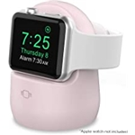 AhaStyle iWatch Stand Silicone Charging Dock Holder Accessories for Apple Watch Series 7/6/5/4/3/2/1/SE(45/44/42/41/40/38mm), Supports Nightstand Mode【Adapters NOT Included】(Pink)