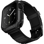 Compatible for Apple Watch Band with Case ,Lasllaves Shockproof Soft TPU Sport Watch Bands Wrist Strap with Protective Bumper Cover for iWatch SE Series 7 6 5 4 3 2 1 Accessories