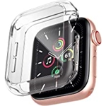 [3 Pack] Case for Apple Watch Series 7, Anotch Soft TPU Screen Protector Compatible with Apple Watch 7 Clear Bumper Case Cover 45mm, 3 Pack