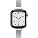 TACA-H Compatible with Apple Watch Band 41mm 38mm 40mm 45mm 42mm 44mm for Women, Slim mesh Stainless Steel Wristband with Strong Magnetic Clasp Replacement Band for iWatch Series 7