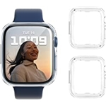 Wiki VALLEY Case for Apple Watch Series 7 Screen Protector 41mm, 2 Pack Soft TPU Clear Ultra-Thin Overall Protective Cover Case for iWatch Series 7 41mm