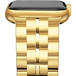 OWNACE compatible for Apple Watch Band 38mm/40mm/42mm/44mm Series 1/2/3/4/5/6/SE, Upgraded Version Solid Stainless Steel Metal Replacement iWatch Bands