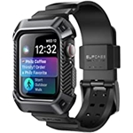 SUPCASE [Unicorn Beetle Pro] Designed for Apple Watch Series 7/6/SE/5/4 [45/44mm], Rugged Protective Case with Strap Bands (Black)