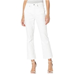 NYDJ High Rise Slim Bootcut Ankle Jeans in Optic White