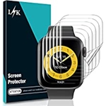 L K L?K [6 Pack] Screen Protector for Apple Watch Series 7 45mm - [Max Coverage] [Self Healing] Bubble-Free HD Clear Flexible TPU Film for iWatch 45mm