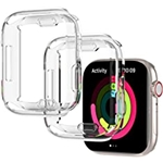Haojavo 2 Pack Case for Apple Watch Series 7 45mm with Screen Protector, Soft TPU Ultra-Thin Scratch Resistant Overall Bumper Full Protective Cover for iWatch 45mm Accessories
