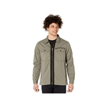 NATIVE YOUTH Long Sleeve Overshirt in Washed Cotton with Zip Fastening and Cargo Pockets