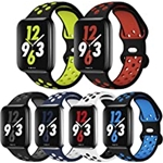 OriBear Sport Band Compatible with Apple Watch Bands 44mm 42mm 45mm Series 7/6/5/4 Breathable Soft Silicone Replacement Strap Women and Men for iWatch 42mm Series 3/2/1 Nike+ All V
