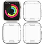 4 Pack Bharvest Compatible with Apple Watch 7 Screen Protector Case 41mm, Soft TPU Full Protector Bumper Cover for iwatch 7 Accessories 41mm