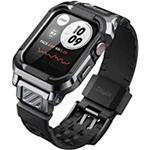 Clayco Vertex Bands Case Compatible with Apple Watch 44mm, Rugged Shockproof TPU Military Strap Protective Cover for iWatch 44mm Series SE/6/5/4