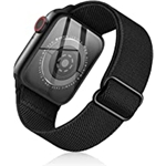 SOTRADE Stretchy Nylon Solo Loop Bands Compatible with Apple Watch 45mm 44mm 42mm 41mm 40mm 38mm Adjustable Braided Sport Elastics Men Women Straps iWatch Series 7 6 5 4 3 2 1 SE (