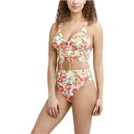 BCBG Generation Just Peachy Lace-Up Midkini
