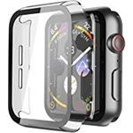 Misxi 2 Pack Hard PC Case with Tempered Glass Screen Protector Compatible with Apple Watch Series 6 SE Series 5 Series 4 40mm - Transparent