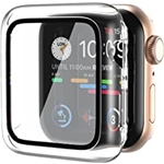 AMUTUR Case Compatible with Apple Watch Series SE/6/5/4 Screen Protector 44mm,Anti-Scratch Shockproof Hard PC Case Clear