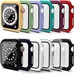 ASINWIN 12 Pack Screen Protector Case Compatible with Apple Watch 40mm SE Series 6 5 4,Hard PC Case with Tempered Glass Screen Protector,Protective Bumper Cover Case Compatible wit