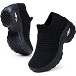 HKR Womens Walking Shoes Arch Support Comfort Light Weight Mesh Non Slip Work Shoes