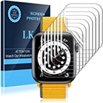 LK 8 Pack Apple Watch Screen Protector Compatible with Apple Watch SE/Series 6/ Series 5 /Series 4 40MM, Self-Healing TPU Material, Bubble Free, HD Clarity, Transparent