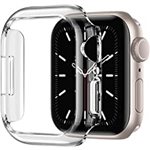 Recoppa Compatible for Apple Watch Case 45mm Series 7, Shockproof Ultra-Thin Hard PC Bumper Case All-Around Edge Protective Cover Frame[NO Screen Protector] for iWatch Accessories,