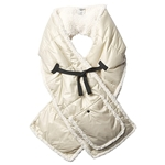UGG All Weather Fabric Puffer Scarf with Sherpa Lining and Pocket
