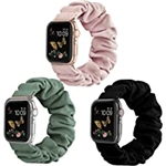 Recoppa Compatible for Scrunchie Apple Watch Band 38mm 41mm 42mm 40mm 44mm 45mm Cute Print Elastic Watch Bands Women Bracelet Strap Compatible for Apple iWatch Series 7 6 5 4 3 2 1