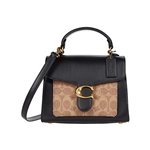 COACH Coated Canvas Signature Tabby Top-Handle 20