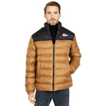 Lacoste Long Sleeve Two-Tone Color-Block Parka