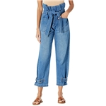 Blank NYC Paper Bag Tapered Pants with Self-Belt in Dancing Queen