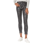 7 For All Mankind The High-Waist Skinny in Foil Snow Leopard