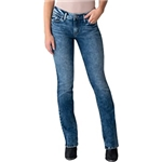 Silver Jeans Co. Elyse Mid-Rise Slim Boot with Power Stretch L03601EDB218
