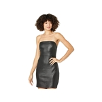 Bebe Faux Leather Mini Tube Dress with Attachable Straps