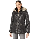 MICHAEL Michael Kors Short Down with Faux Fur Trim Hood M424153TZ