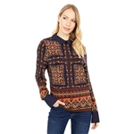 Tommy Hilfiger Long Sleeve Paislet Patch Work Knit