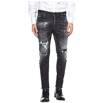 DSQUARED2 Ripped Wash Skater Jeans in Black