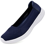 Puxowe Womens Slip on Loafers Lightweight Low-Top Flat Knit Shoes
