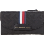 Tommy Hilfiger Cameron II-Large Flap Continental Wallet-TH Bias Woven Jacquard