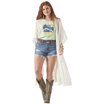 Wrangler Tie Front Lace Inset Duster