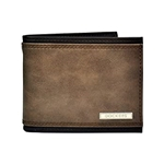 Dockers Bifold Leather Wallet - Thin Slimfold Rfid Blocking Security