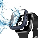 STAYHK Waterproof case for Apple Watch Series SE Series 6 Series 5 Series 7 Hard PC Scratch-Resistant Shockproof with Screen Protector(Blue 40mm