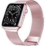 JuQBanke Magnetic Band Compatible with Apple Watch 38mm 40mm 41mm, Stainless Steel Mesh Milanese Strap with Adjustable Loop, Metal band for iWatch SE Series 7 6 5 4 3 2 1 for Women