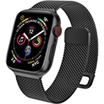 EPULY Compatible with Apple Watch Band 45mm 44mm 42mm 41mm 40mm 38mm,Stainless Steel Men and Women Mesh Strap Replacement Band for iWatch Series 7 SE 6 5 4 3 2 1 (41/40/38mm Black)
