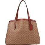 COACH Coated Canvas Signature Charlie 40 with Laptop Compartment