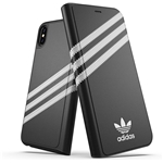 adidas Phone Case Compatible with iPhone XS Max, Originals Moulded Case, Shockproof, Fully Protective Phone Cover, White