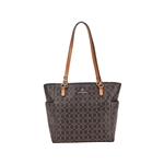 Nanette Lepore Clio Logo Tote with Solid Baguette