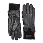UGG Leather Gloves with Knit Cuff and Tech Palm